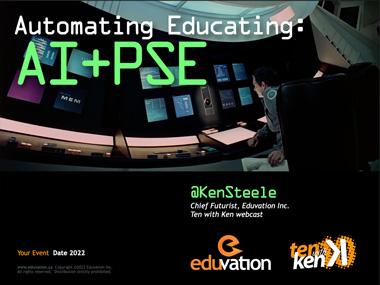 Automating Educating: AI + PSE