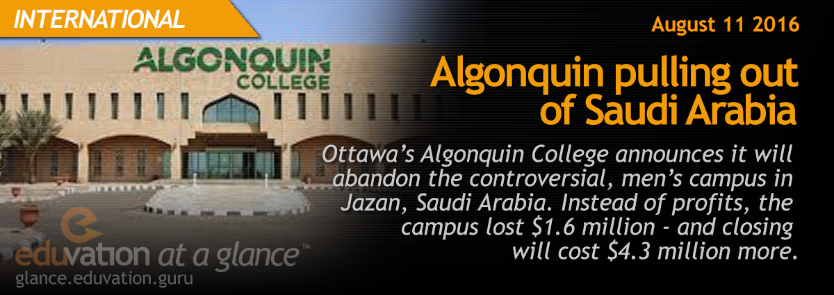 Algonquin pulling out of Saudi Arabia