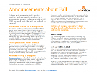 Bulletin #3 - Announcements about Fall