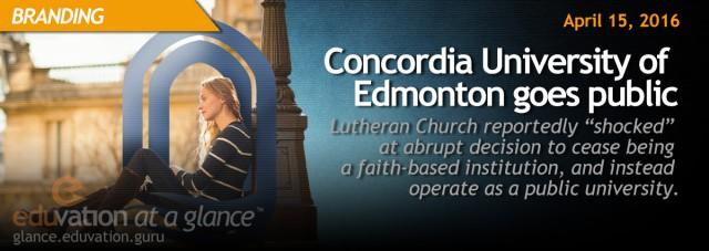 Concordia University of Edmonton Goes Public