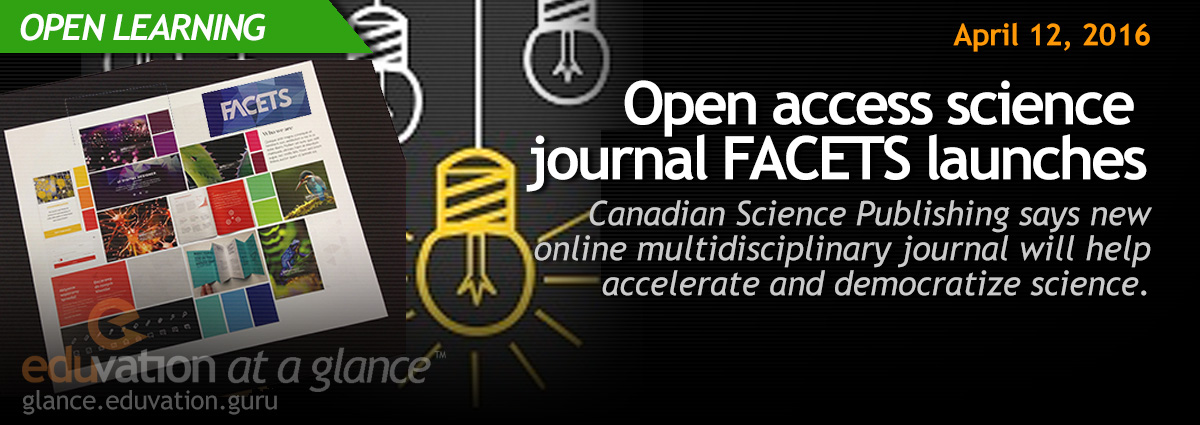 Open access science journal FACETS launches