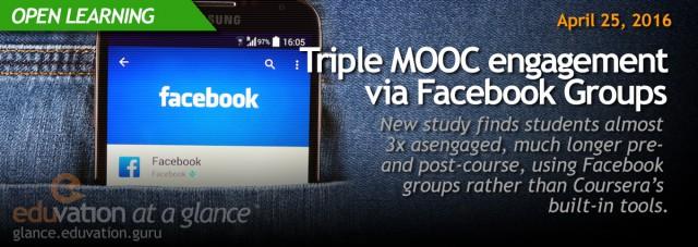 Triple MOOC engagement via Facebook Groups
