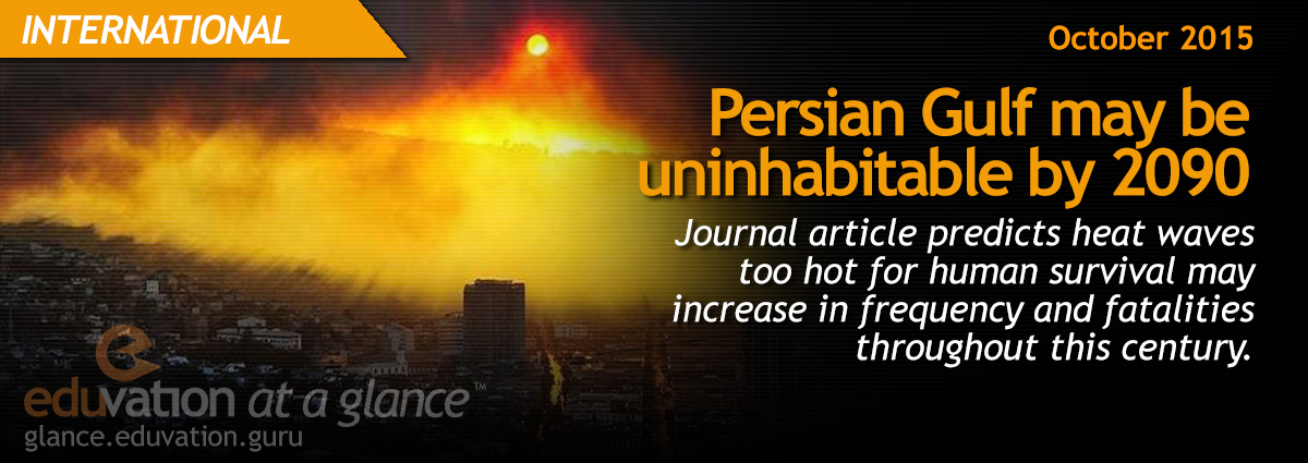 Persian Gulf may be uninhabitable by 2090