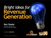 Bright Ideas for Revenue Generation