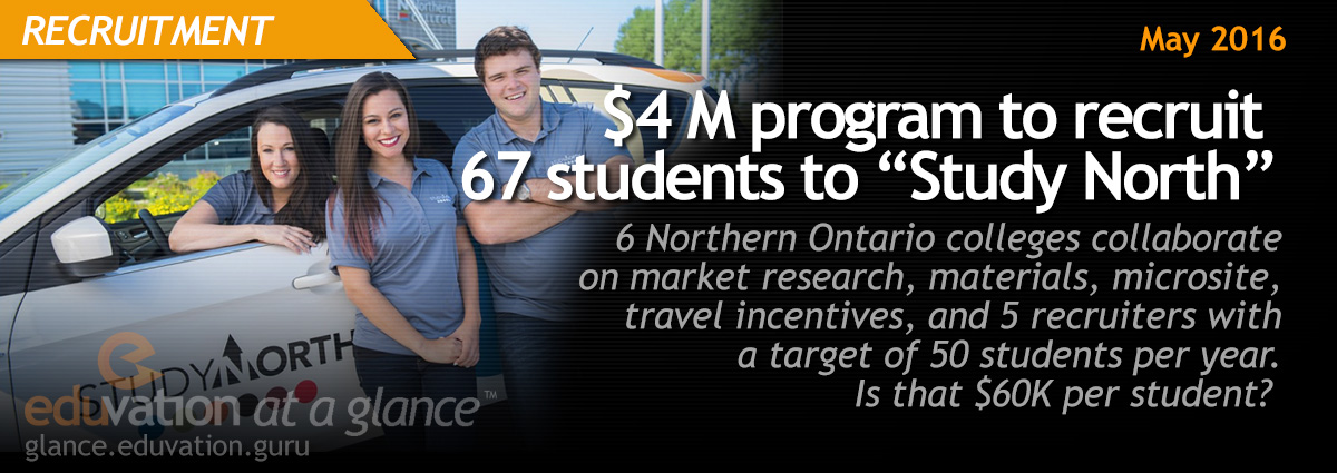 "$4M program to recruit 67 students to ""Study North"""