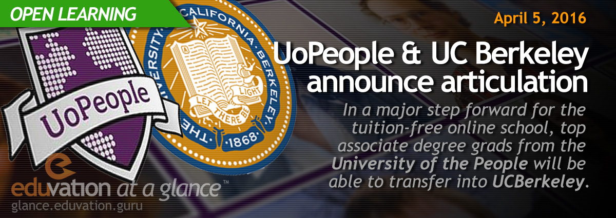 UoPeople & UC Berkeley announce articulation