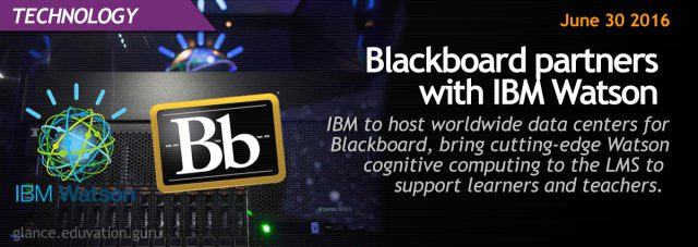 Blackboard partners with IBM Watson