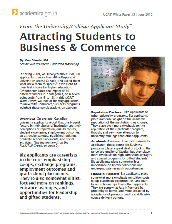 Attracting Students to Business & Commerce
