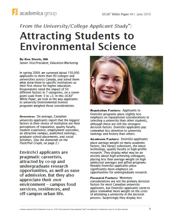 Attracting Students to Enviromental Science