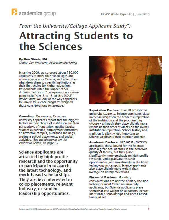 Attracting Students to Sciences