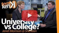 University vs College? Janet Morrison@ Sheridan