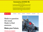 McGill home page - March 14
