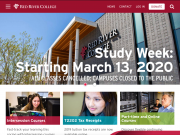 Red River College home page - March 14