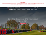 UNB home page - March 14