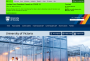 uVic home page - March 14