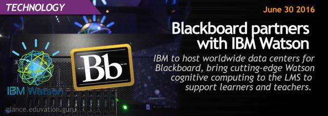 Blackboard partners with IBM Watson